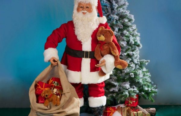 Kerstman, pratend