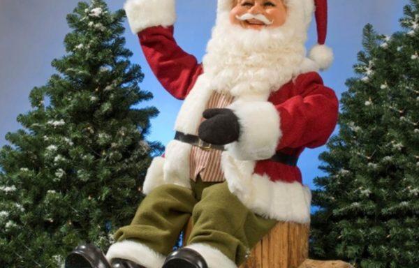Kerstman, zittend