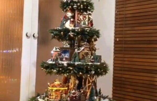 Kerstboom, draaiend