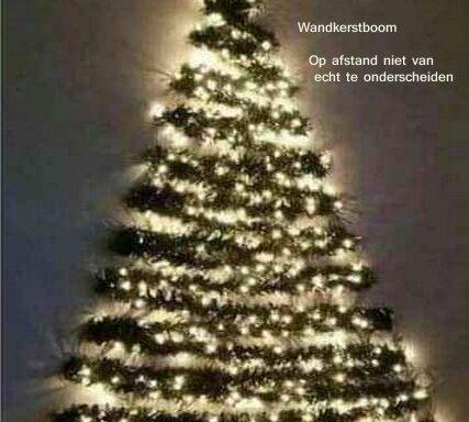Kerstboom, wand