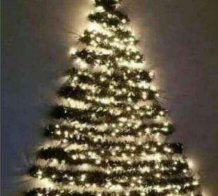 Kerstboom, muur
